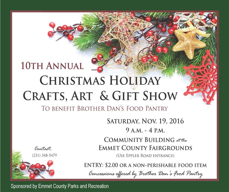 10th Annual Christmas Holiday Crafts, Art and Gift Show @ Community Building at the Fairgrounds | Petoskey | Michigan | United States