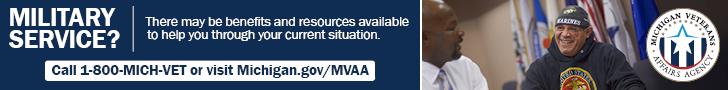 banner ad link to Michigan Veterans Department